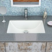 DecoLav Classically Redefined Callensia Ceramic Rectangular Undermount Bathroom Sink with Overflow