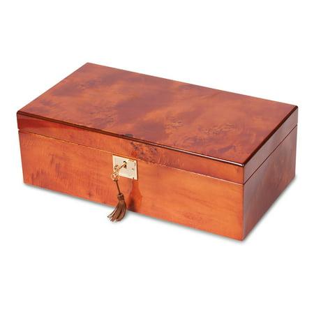 Mapa Burlwood Veneer High Gloss Finish Multi Use Locking Collector Box