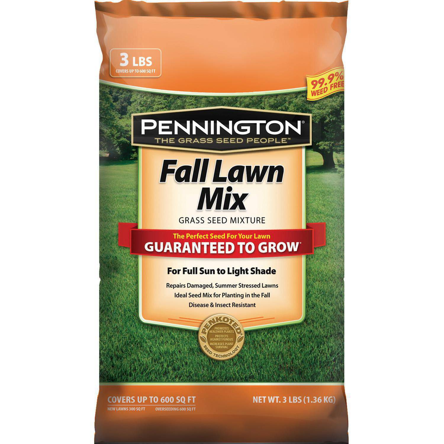Pennington 3 Lb Pe Fall Lawn Mixture C