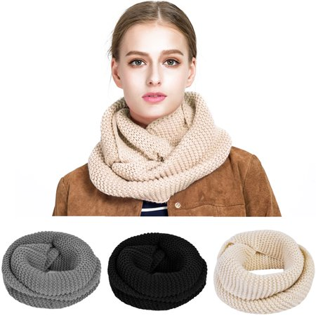 Vbiger Warm Infinity Scarf Winter Loop Scarf Unisex Casual Circle Scarf for Both Men and Women, Best for Travelling, Shopping and Skating,