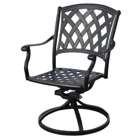 Fleur De Lis Living Campton Swivel Patio Rocking Chair with Cushions (Set of 4) ()