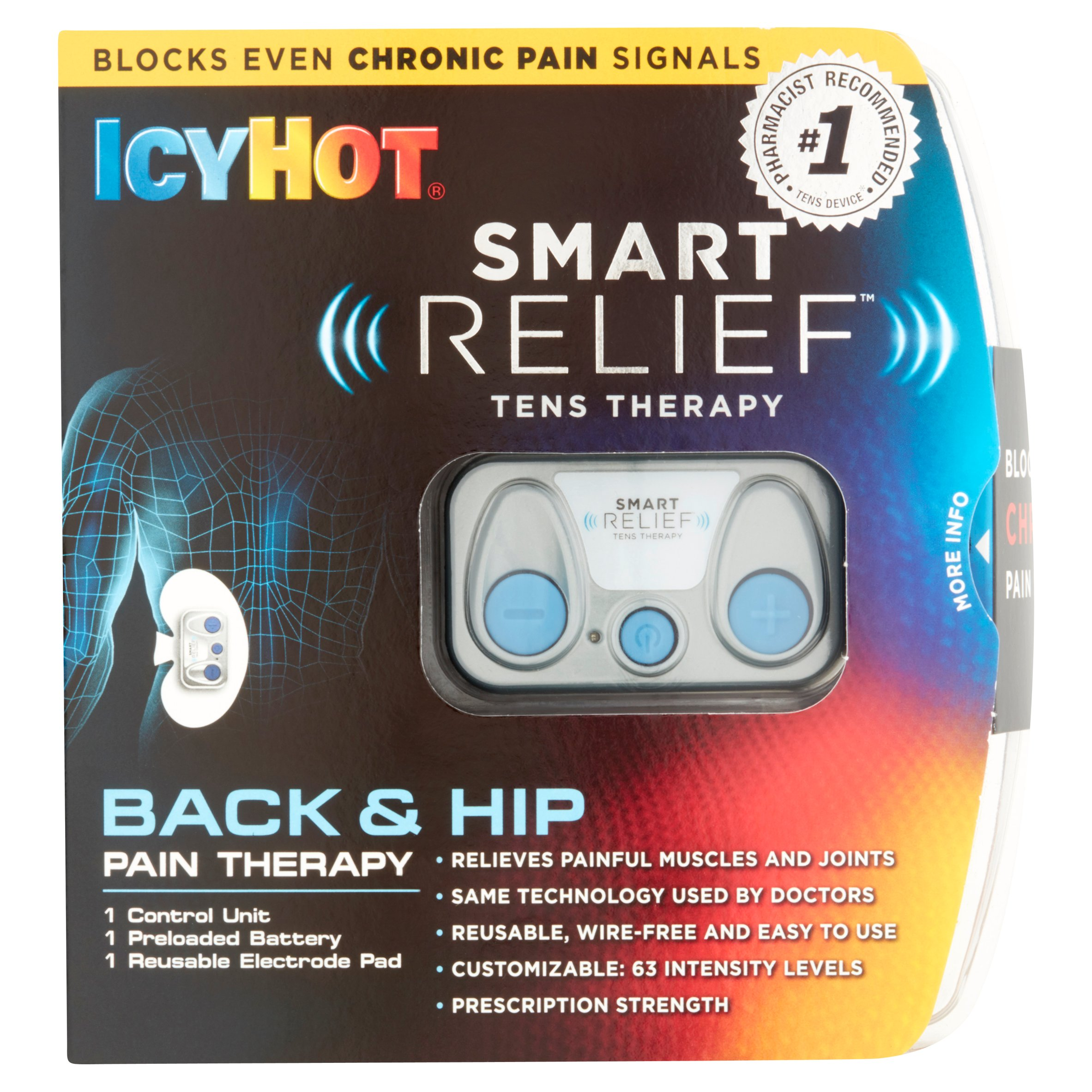 Icy Hot Smart Relief Tens Therapy for Back and Hip Starter Pack