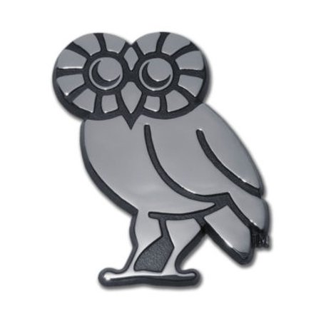 (Rice University Owl Chrome Emblem)