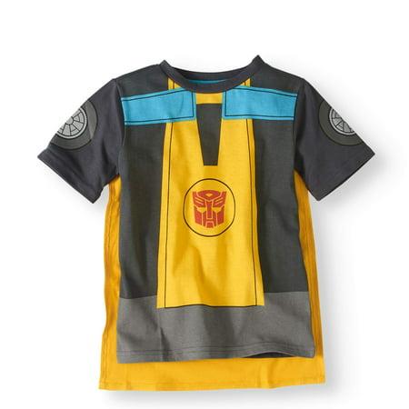 Short Sleeve Cape T-Shirt (Little Boys)](Kids Superhero T Shirts With Cape)