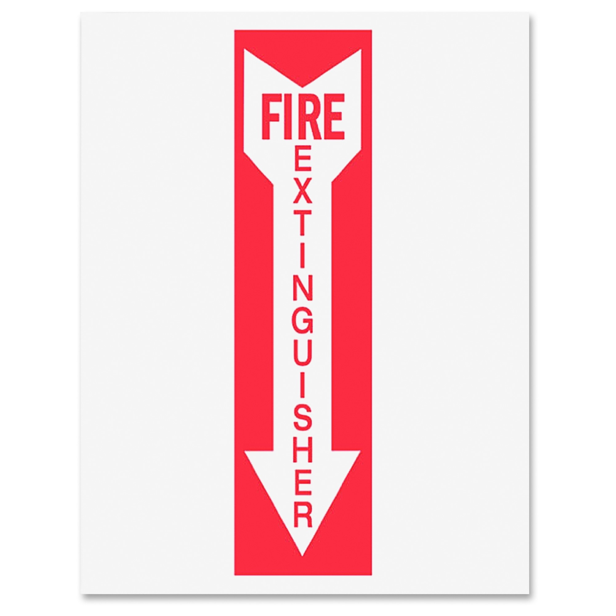 """Tarifold Safety Sign Inserts-fire Extinguisher - """"fire Extinguisher"""" - White, Red (p1949fe)"""