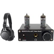 Audio Technica ATH-M60X Closed-Back Pro Monitor Headphones+Tube Headphone Amp