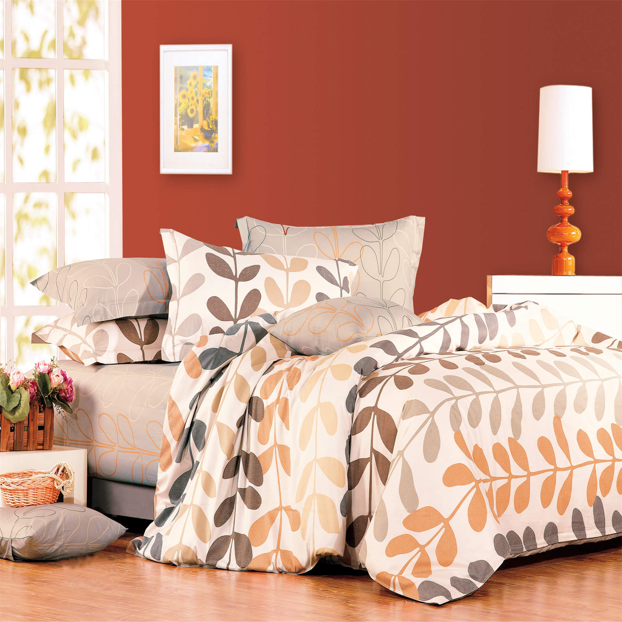 North Home Amelia 100 Cotton Duvet Cover Set Queen