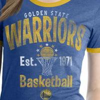 Golden State Warriors Women's NBA Short Sleeve Biblend Crew Neck Tee