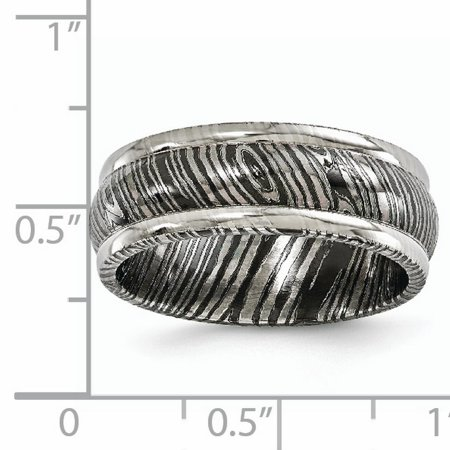 Edward Mirell Timoku 8mm Domed Ridged Edge Wedding Ring Band Size 10.50 Man Classic Fancy Fashion Jewelry Gift For Dad Mens For Him - image 5 de 11