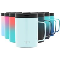 Simple Modern 12oz Scout Coffee Mug Tumbler - Travel Cup for Men & Women Vacuum Insulated Camping Tea Flask with Lid 18/8 Stainless Steel Hydro -Seaside