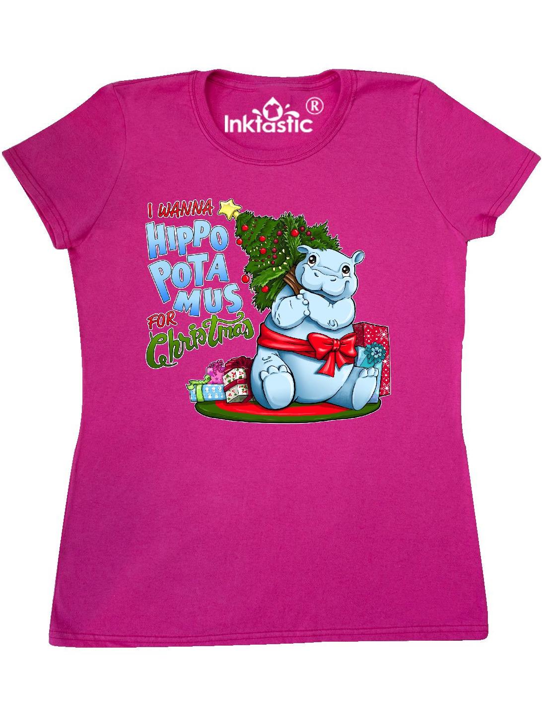 I Wanna Hippopotamus For Christmas.I Wanna Hippopotamus For Christmas Cute Hippo Women S T Shirt