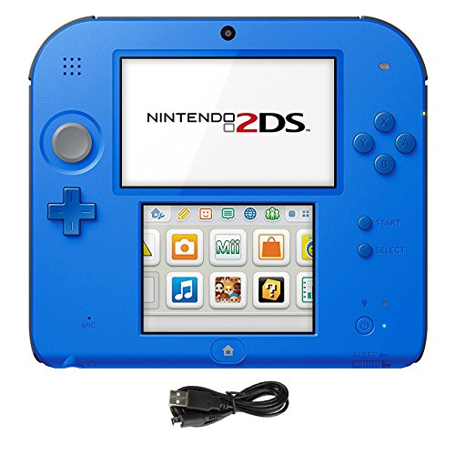 Nintendo 2DS Bundle:Nintendo 2DS-Electric Blue 2 w/Mario Kart 7 Console and USB Sync Charge USB Cable