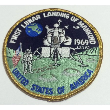 Neil Armstrong Apollo 11 First Lunar Landing Mankind Patch Official Nasa 1969 Made In USA