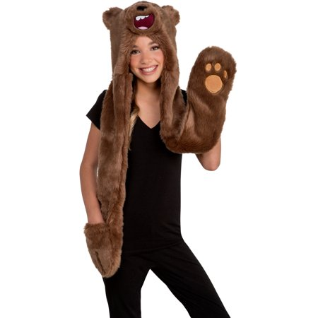 We Bare Bears Grizz Hood Costume Accessory - Funny Bear Costumes