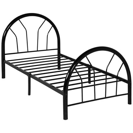 Best Choice Products Metal Twin Size Bed Frame Set with Headboard And (Best Kids Travel Bed)