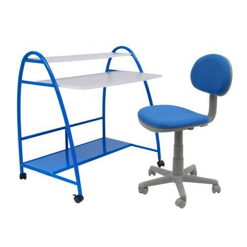 Calico Designs Arc Center Desk and Chair Set - Blue
