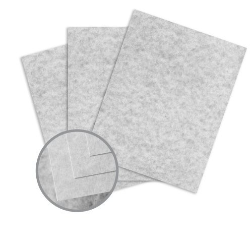 Skytone Smoke Gray Card Stock - 8 1/2 x 11 in 65 lb Cover Vellum 30% Recycled 250 per Package