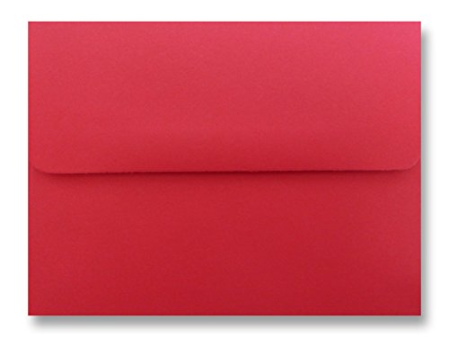 50 Red // Christmas Envelopes \ Invitation Envelopes 5 1//4 X 7 1//4 Astrobrights Re-entry Red A7
