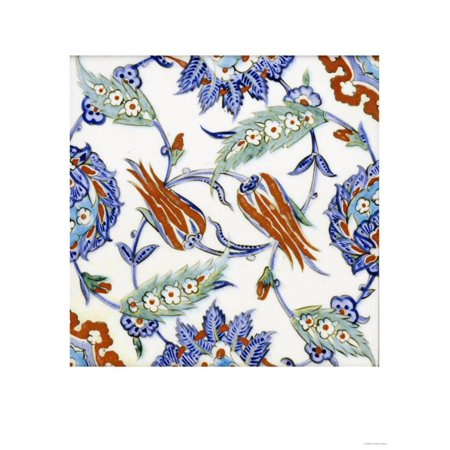Iznik Pottery Tile Print Wall Art