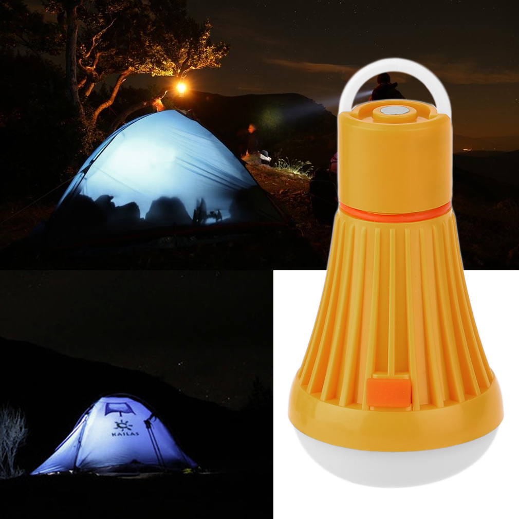 OUTAD Waterproof Outdoor Lighting LED Camping Portable Light With Hook Lawn Lamp, yellow