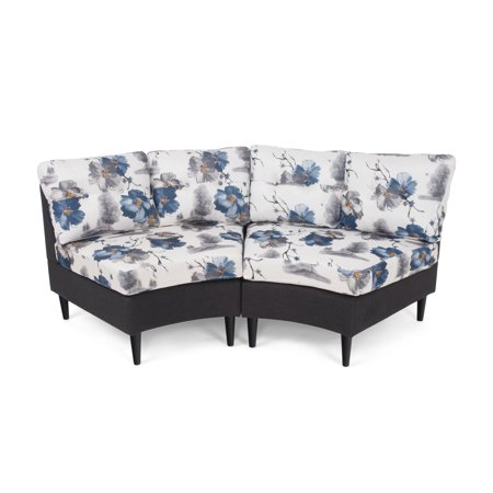 Christopher Knight Home Jazmine Contemporary 2 Seater Modular Fabric Sectional