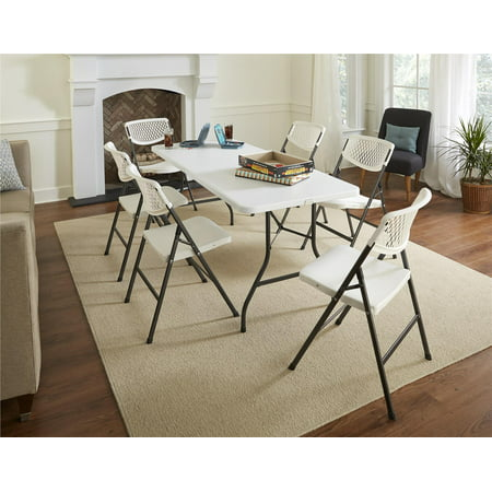 Cosco Waffle Resin Mesh Chair White 1 Pack Walmart Com