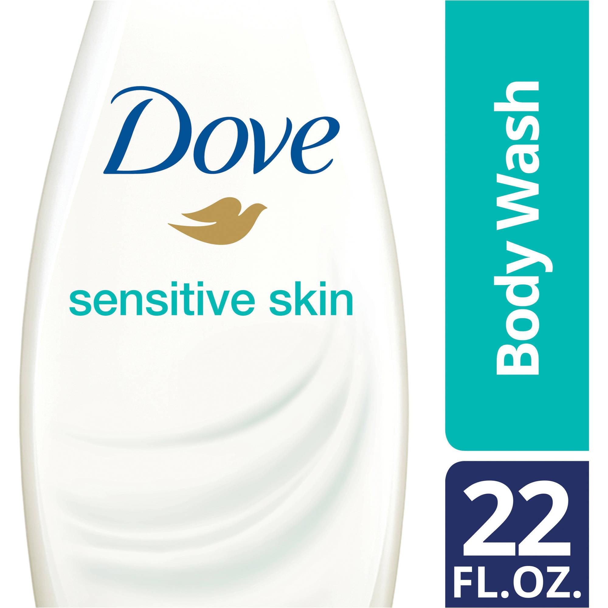 Dove Sensitive Skin Body Wash, 22 oz