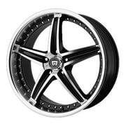 Motegi mr107 16x7 5x114.3 45et 72.60mm gloss black machined wheel