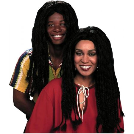 Braided Black Wig Adult Costume Accessory for $<!---->