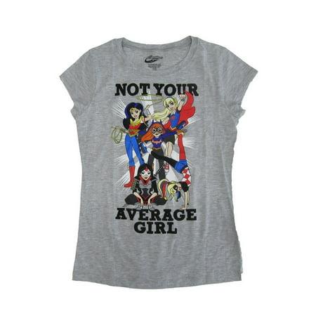 Girl Cartoon Character (DC Comics Girls Gray Super Hero Cartoon Character Cotton)
