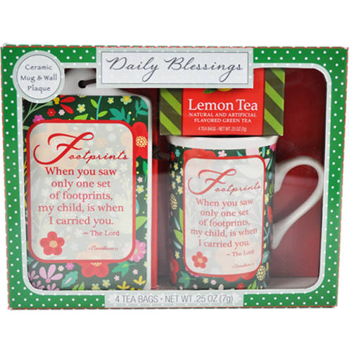 Daily Blessings Holiday Mug & Plaque Gift Set, 1 set, 3 pc (Color Will Vary)