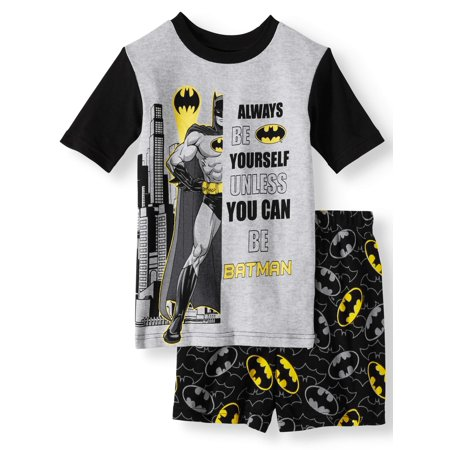 Boy's Batman 2 Piece Pajama Short Set (Little Boy & Big - Skeleton Pyjamas Boys