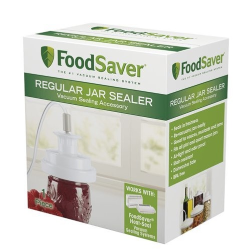 Click here to buy FoodSaver Regular Jar Sealer for Ball and Kerr Mason Jars by Food Saver.