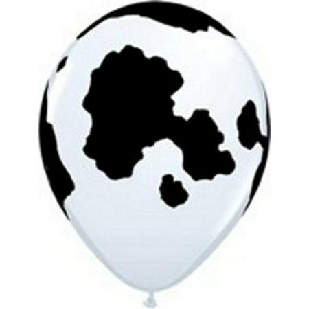 Farm Party Cow Print 11 inch Latex Balloons.