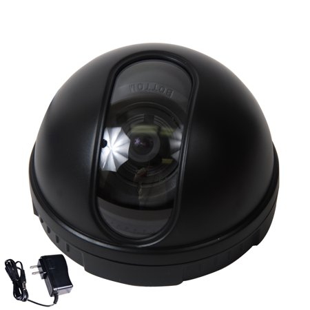 VideoSecu Dome Security Camera CCD DSP 3.6mm Wide Angle Lens for CCTV DVR Home Surveillance System w/ Power Supply bdm ()