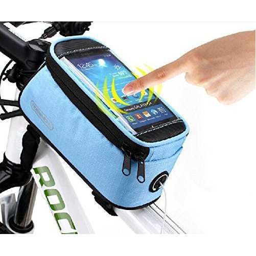 "Roswheel® Waterproof 4.2"" 4.8"" 5.5"" Bike Bicycle Cycling Frame Pannier Front Tube Bag Saddle Bag Touchscreen Cell Phone"
