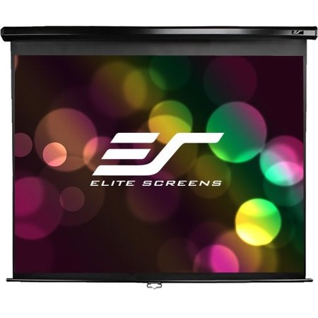 """Elite Screens Manual 99"""" 1:1 Manual Ceiling Wall Mount Pull Down Projection Projector Screen"""