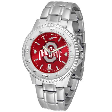 "Ohio State Buckeyes NCAA Anochrome ""Competitor"" Mens Watch (Steel Band)"