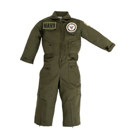 Kids United States Navy Replica Flight Suit Sage Green Small (6-8)