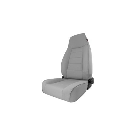 Rugged Ridge 13445.09 Seat For Jeep Cherokee, Gray Woven fabric and vinyl, Front