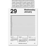 "E458-50 At-A-Glance Pad Base Desk Calendar Refill - Daily - 5"" x 8"" - 1 Year - January till December - 7:00 AM to 4:30 PM - 1 Day Single Page Layout - White"