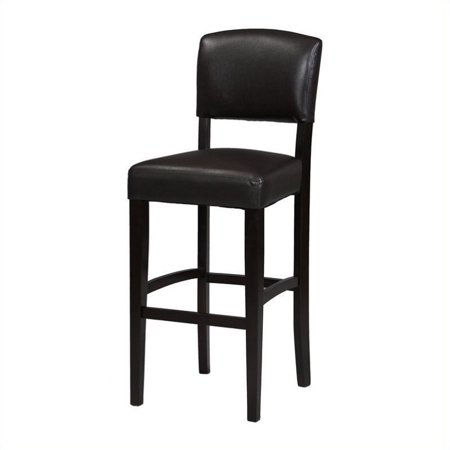 Linon Monaco Counter Stool Espresso 24 Inch Seat Height