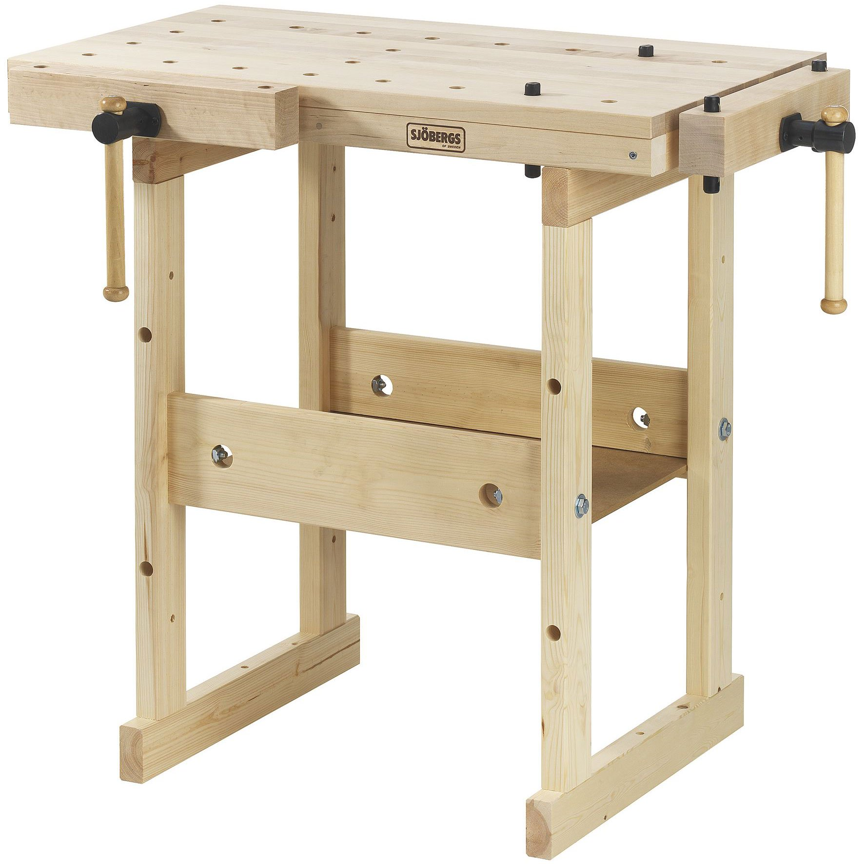 Sjobergs Hobby Plus 850 Birch Wood Hobby and Garage Compact Tools Workbench by Sjobergs