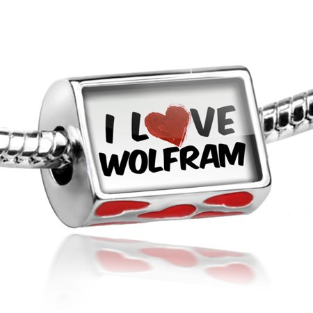 Bead I Love Wolfram Cocktail Charm Fits All European Bracelets