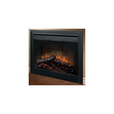 Dimplex Electraflame Built In Electric Fireplace With Bifold Glass Door And Trim