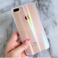 "iPhone X iPhone Xs 5.8"" Clear Holographic Laser Rainbow Cover Phone Case"