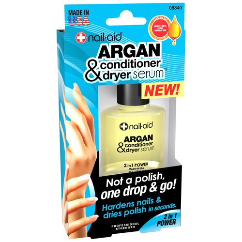 Nail-Aid Argan Nail Conditioner & Dryer Serum, 0.55 fl oz