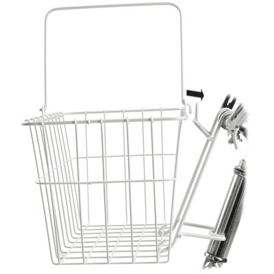 "Wald Standard Bicycle Lift Off Basket, #133 White 14.5"" X 9.5"" X 9"""