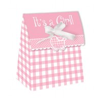 Creative Converting It'S A Girl Gingham Favor Bags, 12 ct