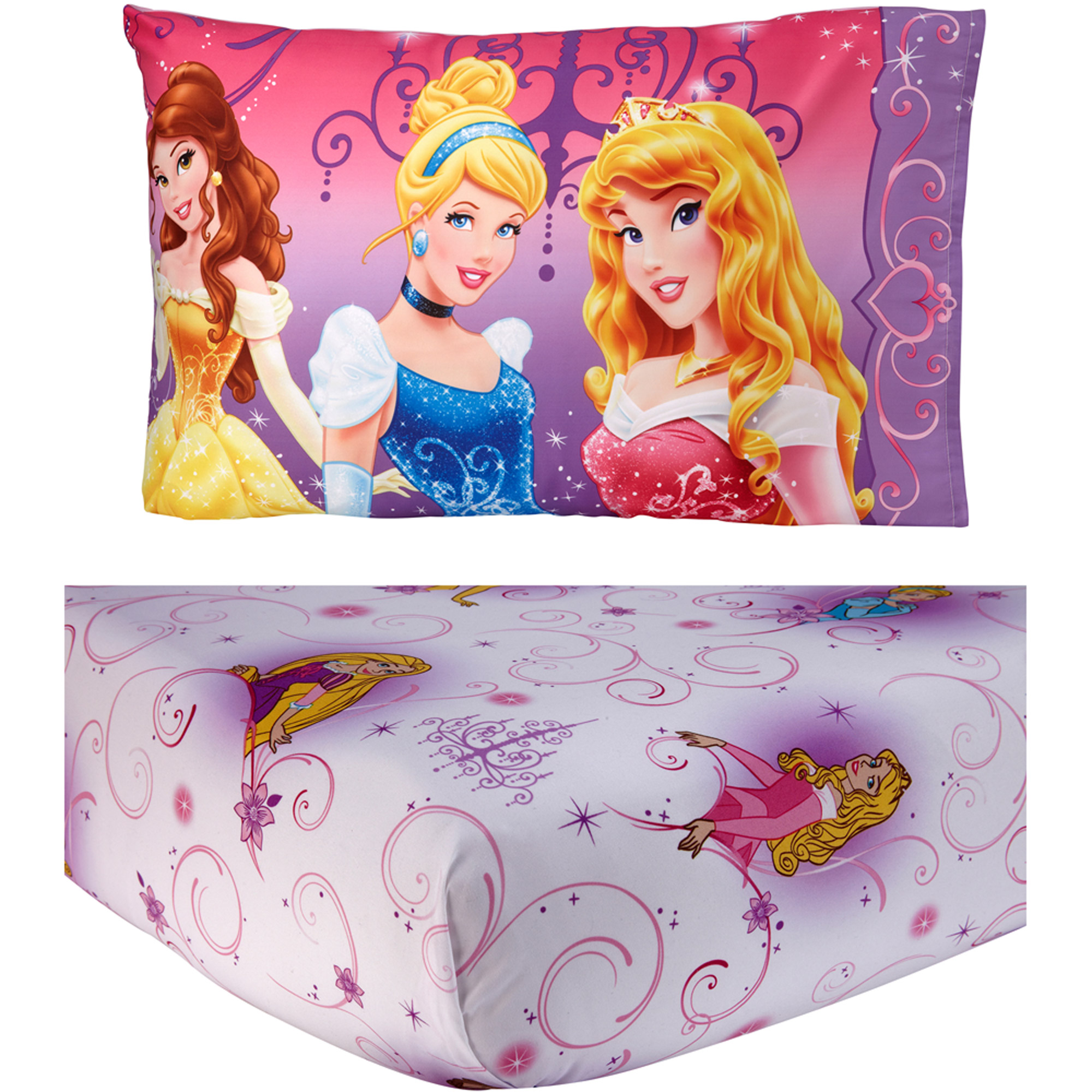 2pc Disney Princess at Heart Toddler Fitted Sheet and Pillowcase Set